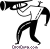 Vector Clipart graphic  of a trumpeter