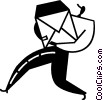 Vector Clipart graphic  of a mailman
