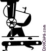 assembly line Vector Clip Art image