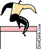 Vector Clipart illustration  of a Hurdles
