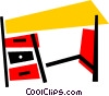 Vector Clip Art graphic  of a Desktop