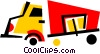 Vector Clipart illustration  of a Transport Trucks