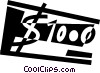 Vector Clipart illustration  of a Dollars