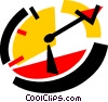 Vector Clip Art graphic  of a Wall Clocks