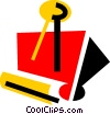 Vector Clipart graphic  of an Alligator or Bulldog Clips