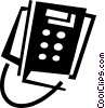 Office Phones Vector Clipart illustration