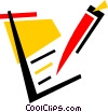 Vector Clip Art image  of a Notepad