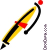 Vector Clipart picture  of a Ballpoint Pens