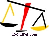 Vector Clipart picture  of a Scales of Justice