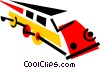 Vector Clip Art image  of a Trains Locomotives