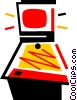 Vector Clipart graphic  of a Pinball