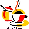 Pots and Pans Vector Clip Art graphic