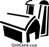 Vector Clip Art image  of a Barns and Farms