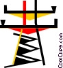 Hydro Towers Vector Clipart picture