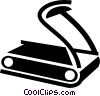 Vector Clipart graphic  of a Treadmills