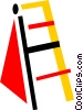 Vector Clipart graphic  of a Ladders