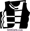 Vector Clipart illustration  of a Life Vests and Preservers