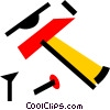 Vector Clip Art image  of a Hammers