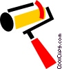 Vector Clipart graphic  of a Paint Rollers