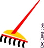 Vector Clipart image  of a Rakes
