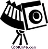 Vector Clipart graphic  of a Cameras