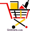 Vector Clipart graphic  of a Shopping Carts