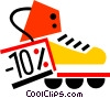 Vector Clip Art image  of a Rollerblading