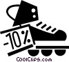 Vector Clipart graphic  of a Rollerblading