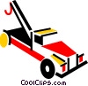 Vector Clip Art graphic  of a Tow Trucks