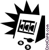 Vector Clipart image  of a Slot Machines