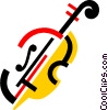 Vector Clip Art graphic  of a Cellos