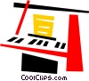 Vector Clipart illustration  of a Pianos