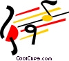 Vector Clip Art picture  of a Musical Notation