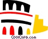 Vector Clip Art picture  of a Roman Coliseums