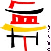 Vector Clipart graphic  of a Pagodas