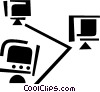 Intranets Vector Clip Art graphic