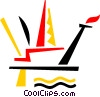 Offshore Drilling Platforms Vector Clipart picture