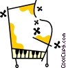 Vector Clipart image  of a Pianos