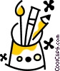 Vector Clipart graphic  of a Brushes