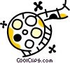Vector Clipart picture  of a Film Strips and Post