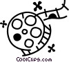 Vector Clipart graphic  of a Film Strips and Post