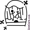 Vector Clipart image  of a Puppet Shows