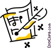 Vector Clipart picture  of a Musical Notation
