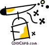 Airbrushes Vector Clip Art graphic