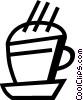 Cups of Coffee Vector Clipart picture