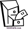 Vector Clipart illustration  of a Filing Cabinets