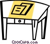 Vector Clip Art graphic  of a Tables and Counters