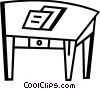 Vector Clipart illustration  of a Tables and Counters