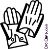 Vector Clipart image  of a Gloves