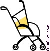 Vector Clip Art graphic  of a Strollers and Carriages